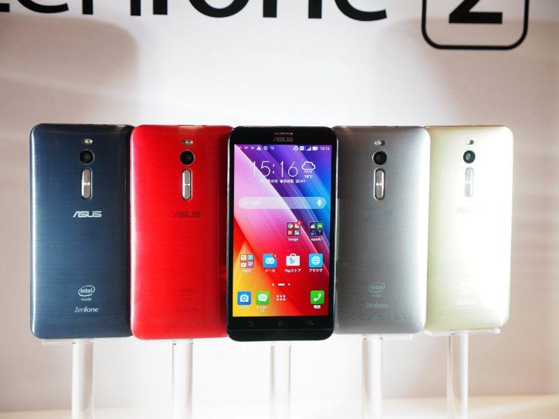 ASUSの販売する「ZenFone 2」。価格は3万5800円から。コスパのよさが魅力で、人気が高い