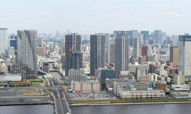 東京湾岸地区の高層マンション群