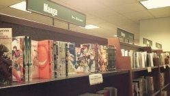 ワシントンの書店の「MANGAコーナー」には、日本の人気漫画が並んでいる