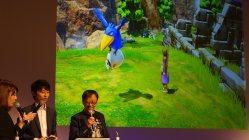 開発中の「ドラクエXI」PS4版のデモプレイ=片平知宏撮影