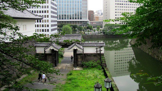 江戸城清水門=東京都千代田区で2015年7月、小松健一撮影