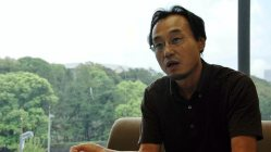 毎日新聞社でスポーツ担当の論説委員を務める落合博さん=田中学撮影