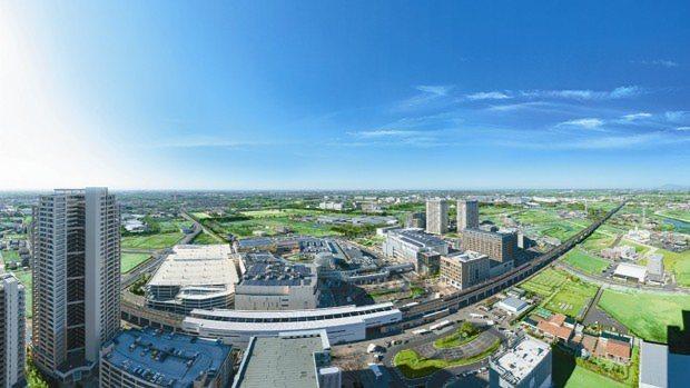 空から見た柏の葉スマートシティ