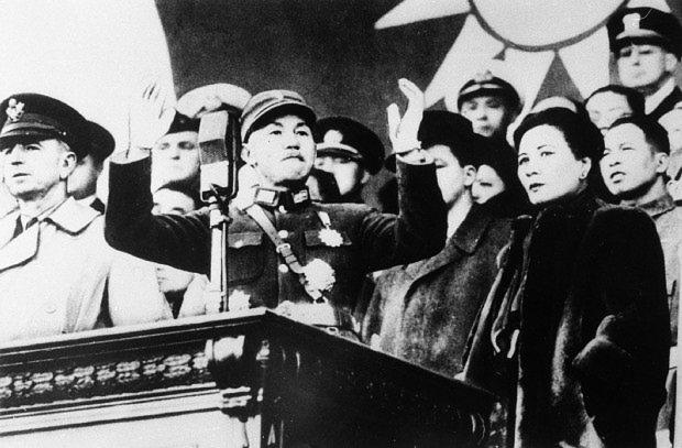 1949年に中国大陸から台湾へ逃れた国民党の蒋介石総統