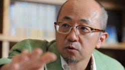 東京五輪エンブレム問題について語る福井健策弁護士=東京都港区で2015年9月3日、猪飼健史撮影
