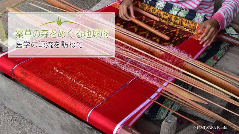 インドネシアで古くから伝わる庶民の機織り。民族衣装は今でも自宅で、女性によって織られている