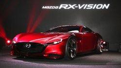 世界初公開されたマツダのRX−VISION=東京ビッグサイトで2015年10月28日、米田堅持撮影