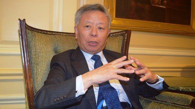 アジアインフラ投資銀行(AIIB)の初代総裁に就任する金立群氏=米ワシントンで2015年10月21日撮影