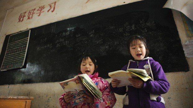 中国・桂林の小学校で