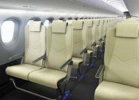 2007年6月に公開されたMRJの機内のイメージ=三菱重工業提供