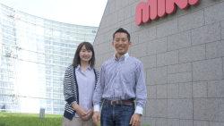 ミキハウス人事部の高橋輝圭さん(右)と山田千滉さん