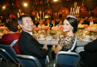 Takaaki Kajita is seen with Sweden's Princess Sofia during the banquet for the Nobel Prize Award Ceremony at the Stockholm city hall, on Dec. 10, 2015. (Pool photo)