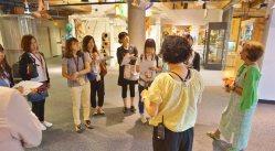 ボストン・チルドレンズ・ミュージアムを訪れた研修参加者=ポピンズ提供