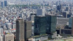 大阪市内の空撮=本社ヘリから