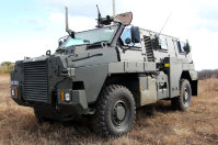 One of the Ground Self-Defense Force's new transport vehicles is seen at the Somagahara training grounds in Shinto, Gunma Prefecture, on Dec. 17, 2015. (Mainichi)