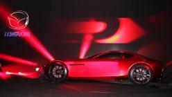 2015東京モーターショーで発表されたロータリーエンジン搭載のコンセプトカー=東京ビッグサイトで米田堅持撮影