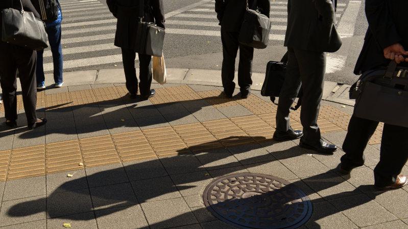 都市の風景=東京・銀座で2015年11月27日、関口純撮影