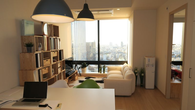 筆者が新宿で借りた高級賃貸マンションのリビングルーム