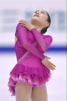 Figure skater Satoko Miyahara performs at the Japan Figure Skating Championships 2015 on Dec. 27, 2015, in Sapporo. (Mainichi)