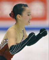 Figure skater Wakaba Higuchi performs at the Japan Figure Skating Championships 2015 on Dec. 27, 2015, in Sapporo. (Mainichi)