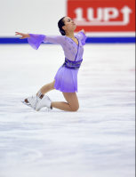 Figure skater Mao Asada performs at the Japan Figure Skating Championships 2015 on Dec. 27, 2015, in Sapporo. (Mainichi)