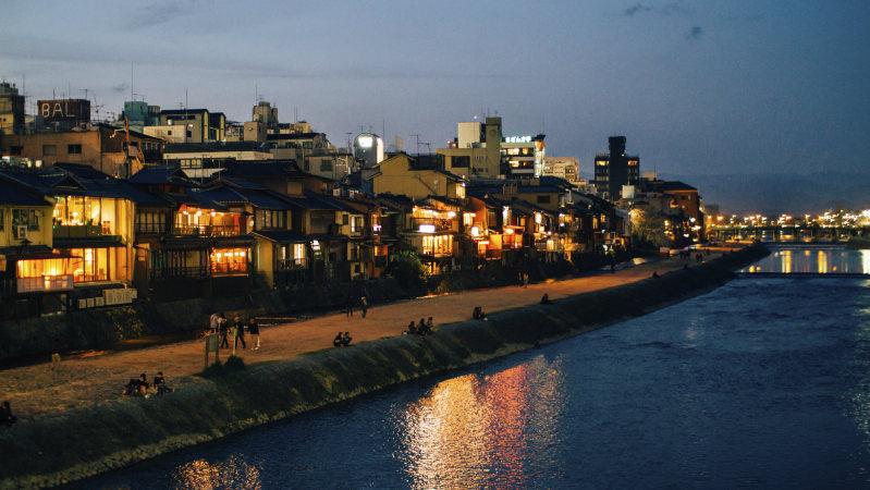 京都・鴨川の風景