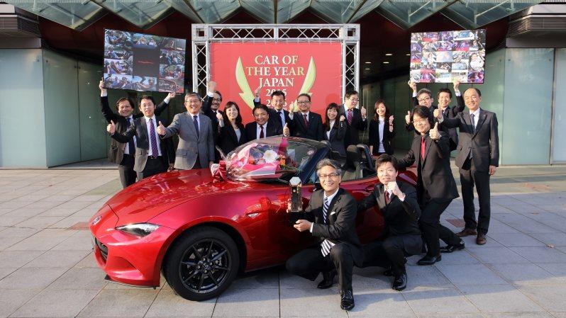 15−16日本カー・オブ・ザ・イヤーを受賞したマツダのロードスター=日本カー・オブ・ザ・イヤー実行委員会提供