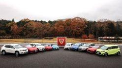 2015−16日本カー・オブ・ザ・イヤーの10ベストカー=日本カー・オブ・ザ・イヤー実行委員会提供