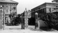 広島高等師範学校(現・広島大学)正門=広島市で1934年6月撮影