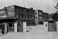 京都高等工芸学校(現・京都工芸織維大学)の本館=京都市で1940年6月撮影