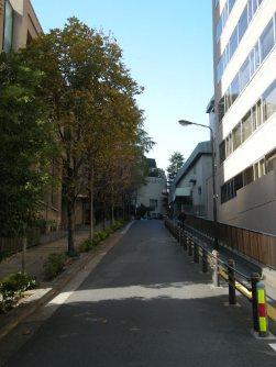 この坂を上ると山の上ホテル=銅崎順子撮影