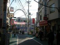 そろそろ商店街も終点=銅崎順子撮影
