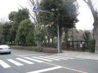 国分寺街道右手はもう東京農工大の敷地=銅崎順子撮影