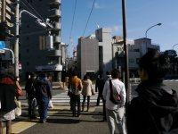 西早稲田の交差点=小座野容斉撮影