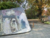 すぐ隣には駒沢オリンピック公園。1964年の東京五輪を記念した公園=柴沼均撮影