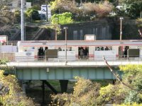 東京メトロ四ツ谷駅は地下鉄なのに地上にある=柴沼均撮影