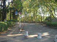 公園を出て、さらに道なりに進む=平宗之撮影