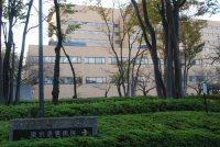 正面にあるのは東京逓信病院=小島昇撮影