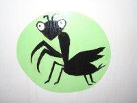 昆虫も。ざっと数えても20種類以上の生き物が描かれている=湯浅啓撮影