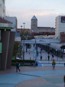 首都大学東京から南大沢駅にかけての歩行者専用通り=仲村隆撮影