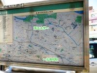 北浦和駅から埼玉大学へはおよそ3.6キロ=浜田和子撮影