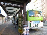 ちょうどバスがきていた=浜田和子撮影