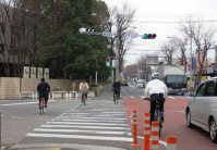 比較的平坦な埼玉県はもちろん自転車人口が高い。自転車保有台数は全国一=浜田和子撮影