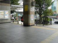 南口を出たら左へ進む=現代法学部2年、田中紘夢さん撮影