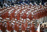 【1964東京五輪】開会式で入場行進する日本選手団。選手・役員437人