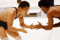 【1964東京五輪】レスリング・フリースタイル・バンタム級で上武洋次郎が金メダル。決勝リーグでソ連の選手を破る