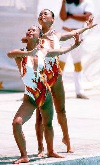 【1984ロサンゼルス五輪】シンクロナイズドスイミングで元好三和子・木村さえ子が銅メダル