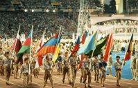 【1992バルセロナ五輪】華やかな開会式。東西冷戦の終結を反映し、ソウル大会をボイコットした北朝鮮やキューバなども顔をそろえ、旧ソ連は最後の統一チームが参加した。日本の金メダルは3個、銀メダル8個、銅メダル11個だった