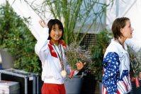 【1992バルセロナ五輪】14歳の岩崎恭子がレース後のインタビューに「今まで生きてきた中で、一番幸せです」と話し話題となった