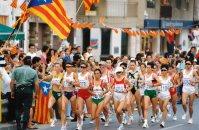 【1992バルセロナ五輪】陸上女子マラソン。スタート13キロ付近の様子